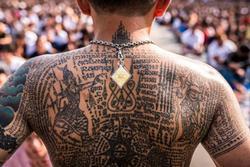 Lễ hội hình xăm từ nọc rắn và tàn thuốc ở Thái Lan