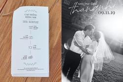 Cư dân mạng phát hiện ra điểm 'hơi sai' trên thiệp cưới của Đông Nhi và Ông Cao Thắng