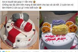 Lấy ảnh trên mạng về để làm mẫu đặt bánh tặng vợ 20/10, anh chồng nhận kết đắng