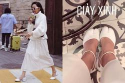 Sành điệu vượt cả Ngọc Trinh, Diệu Nhi là mỹ nhân Vbiz đầu tiên sở hữu 'giày móng heo'