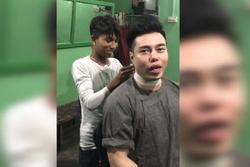 Lê Dương Bảo Lâm thử cắt tóc massage với giá 'rẻ giật mình' ở Ấn Độ