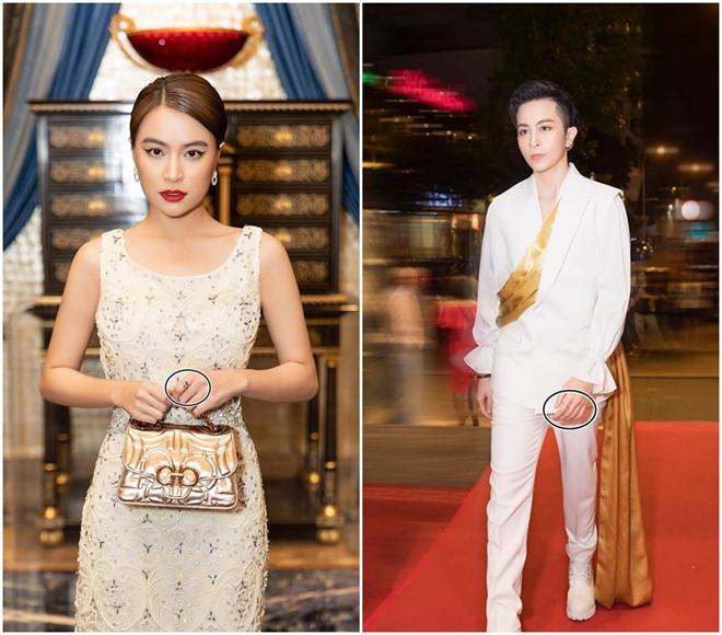 Hoàng Thùy Linh đeo nhẫn đôi cùng Gil Lê-1