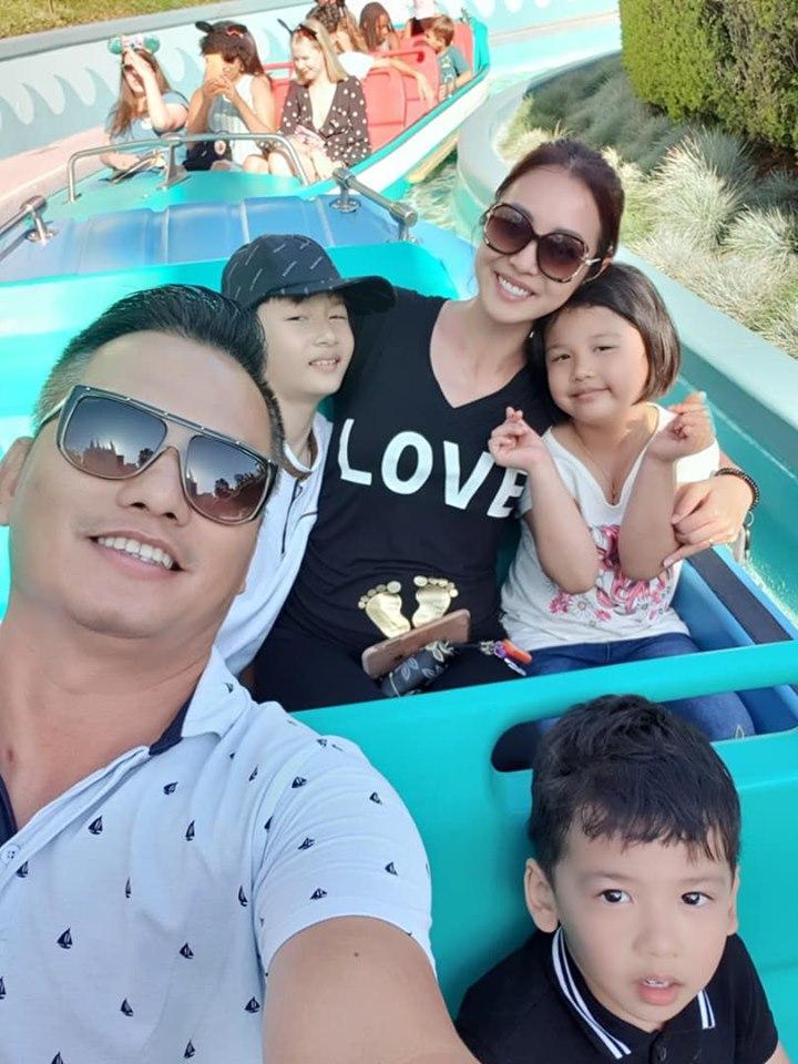 Hoa hậu Jennifer Phạm vác bụng bầu lớn đi chơi cùng ông xã đại gia-4