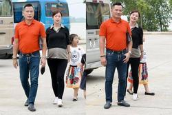 Hoa hậu Jennifer Phạm 'vác' bụng bầu lớn đi chơi cùng ông xã đại gia