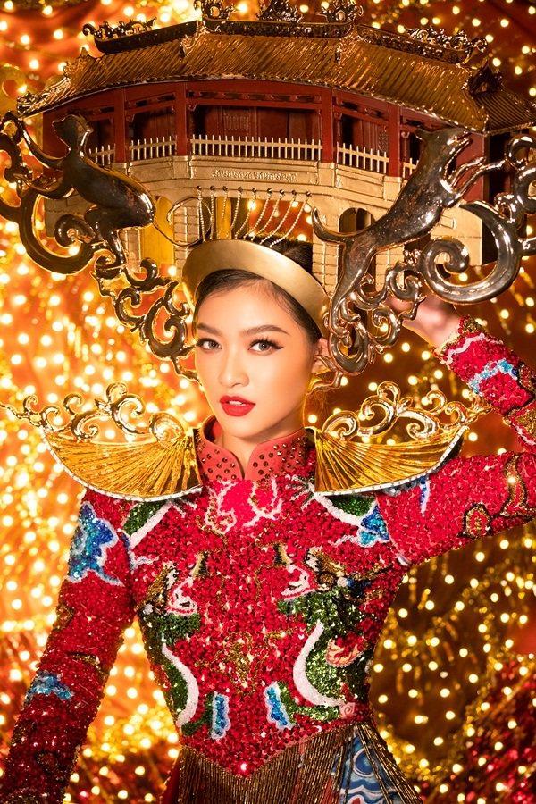 Hơn 1000 đèn led không sáng, phần thi quốc phục của Kiều Loan tại Miss Grand 2019 gây tiếc nuối-6