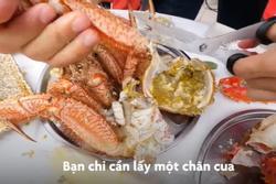 Bàn ăn toàn cua cỡ lớn không thể cưỡng lại ở Nhật Bản