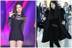 Jennie thích diện cả cây đen, váy áo bó sát khoe body hút mắt
