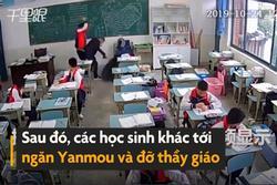 Học sinh 15 tuổi bị bắt vì đánh thầy giáo trong lớp