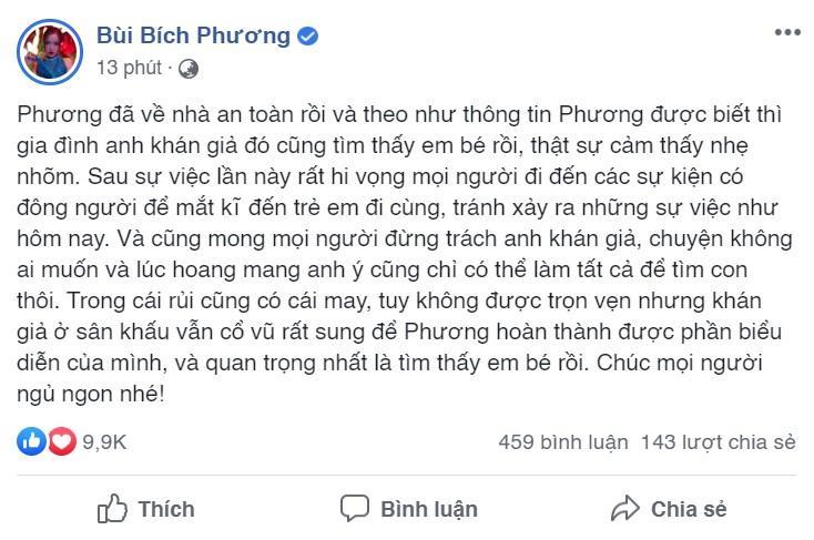 Đang 'đu đưa' cực sung, Bích Phương sững sờ khi bị khán giả giật mic tìm trẻ lạc-2