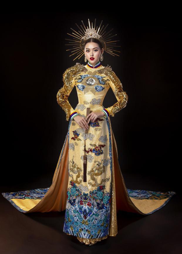 Vừa sang Nhật thi Miss International, Tường San đã tiết lộ hẳn 2 bộ áo dài cực kỳ hoành tráng để thi Quốc phục-3