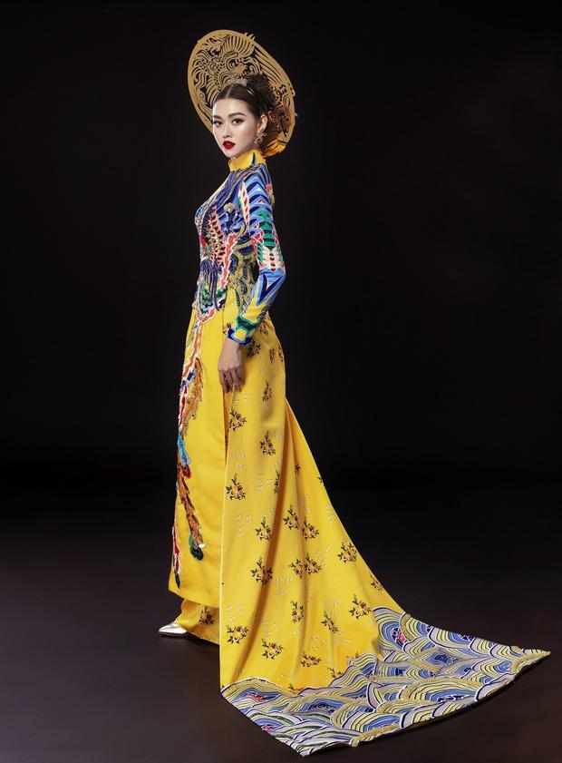 Vừa sang Nhật thi Miss International, Tường San đã tiết lộ hẳn 2 bộ áo dài cực kỳ hoành tráng để thi Quốc phục-6