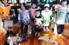 Bà mẹ hóa trang cho các con thành cốc trà sữa dịp Halloween