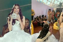 SHOCK: Phương Khánh và thí sinh Hoa hậu Trái đất ngồi la liệt như dân tị nạn trong hậu trường