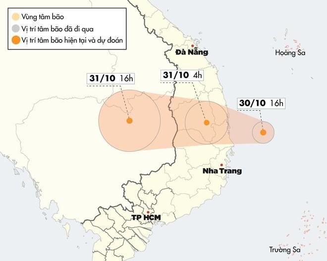 Bão số 5 cách đất liền hơn 100 km, giật cấp 12-1