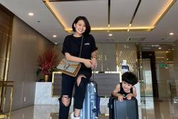 Ngọc Lan du lịch cùng con trai, khán giả thắc mắc về Thanh Bình