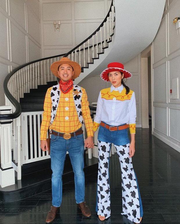 Màn hóa trang Halloween của vợ chồng Louis Nguyễn không gây sốt bằng câu thả thính của Tăng Thanh Hà-1