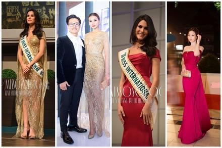 Đụng độ váy xuyên thấu với 'chị đại' Thanh Hằng, Hoa hậu Quốc tế lấn lướt nhờ đôi chân dài 1m15