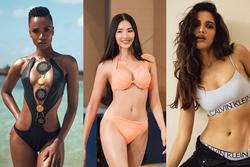 Bản tin Hoa hậu Hoàn vũ 31/10: Hoàng Thùy bất ngờ khoe ngực 'khủng' áp đảo dàn đối thủ