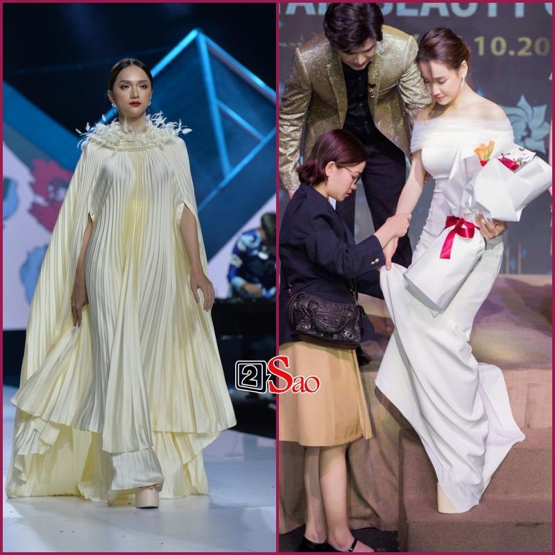 Đam mê đi cà kheo bằng giày 25cm: Hương Giang catwalk đầy thần thái, Nhã Phương cần cả chồng và trợ lý dìu-1