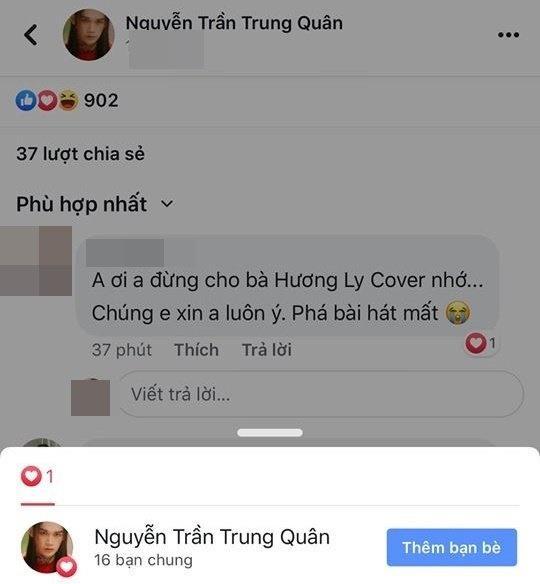 Không nhiều lời, Nguyễn Trần Trung Quân cấm Hương Ly cover hit mới chỉ bằng 1 icon-3