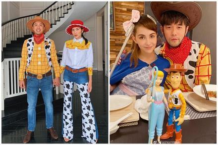 Chồng Hà Tăng có màn cosplay Halloween 'đụng hàng' Châu Kiệt Luân