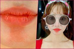 Hari Won đăng ảnh cận mặt đầy rạng rỡ, CĐM nhanh chóng 'soi' vết kì lạ dưới đôi môi