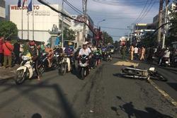 Tông vào xe ngược chiều, Phó viện trưởng VKSND quận 9 bị xe máy khác chèn qua người tử vong