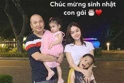 Phạm Quỳnh Anh - Quang Huy hội ngộ vui vẻ mừng sinh nhật con gái đầu lòng