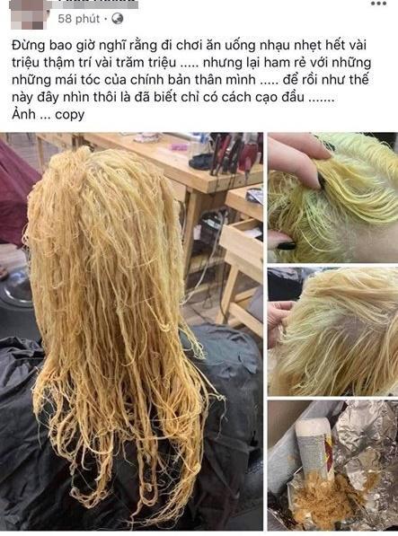 Nổi da gà với tình cảnh cô gái tẩy tóc bị rụng nguyên cả mảng đến mức hói đầu-1