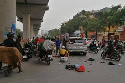 Hà Nội: Xe ô tô 'điên' gây tai nạn liên hoàn khiến nhiều người nhập viện