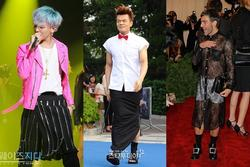 G-Dragon và nhiều sao nam không ngại mặc váy xuống phố