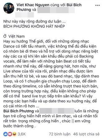Khắc Việt bênh vực Bích Phương giữa nghi án hát nhép trên sân khấu-2