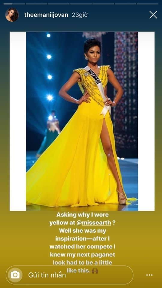 Quá thần tượng HHen Niê, người đẹp nước Mỹ nhất quyết mặc váy màu vàng để thi Miss Earth 2019-3