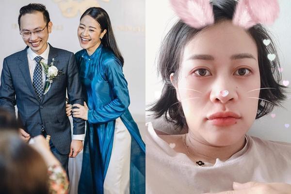Thả nhẹ ảnh mặt mộc ở tháng thứ 7 thai kỳ, MC Phí Linh gây bất ngờ về nhan sắc-2