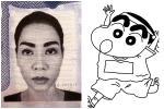 Thu Minh khoe ảnh visa mà ai cũng phải cạn lời vì hàng lông mày sâu róm như mặt nạ Halloween