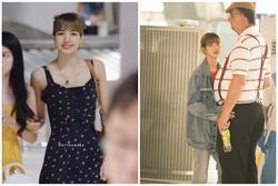 Lisa diện váy hoa khoe vai thon, đeo túi hàng hiệu ra sân bay