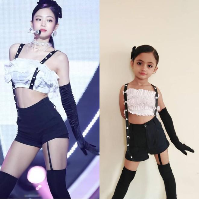 Bé gái 6 tuổi nổi tiếng nhờ mặc đồ sexy giống BlackPink-1