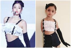 Bé gái 6 tuổi nổi tiếng nhờ mặc đồ sexy giống BlackPink