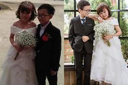 Mạng xã hội xôn xao bàn tán đám cưới của cặp đôi tí hon có thân hình như học sinh lớp 1