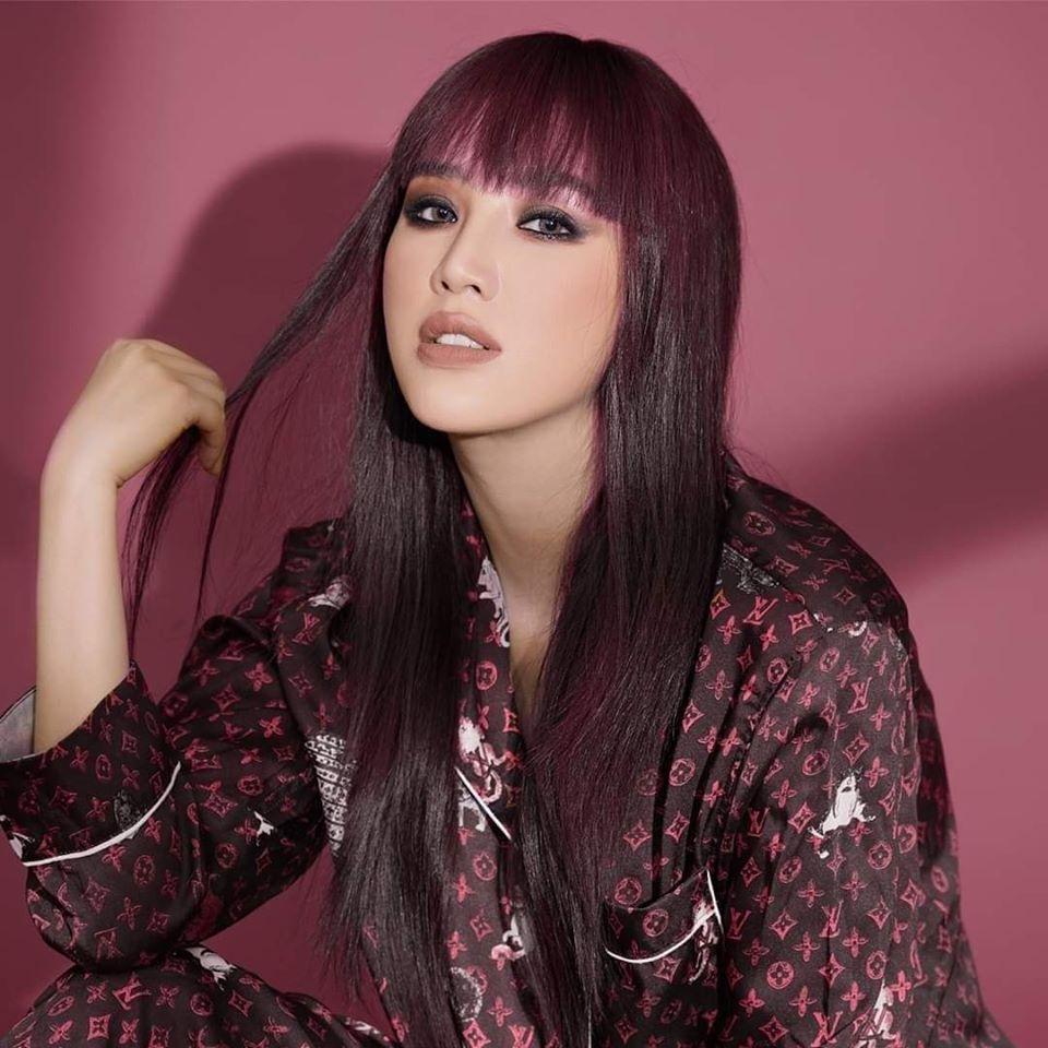 Thợ photoshop non tay hô biến tóc mới cho Bảo Thy còn khuyến mãi thêm vầng trán hồng rực-1