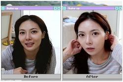 Gương mặt không thể tưởng tượng nổi của HuynA sau khi lột bỏ lớp son phần dầy cộp