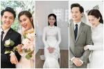 Đông Nhi và những mỹ nhân Việt chọn áo dài trắng thuần khiết trong lễ vu quy