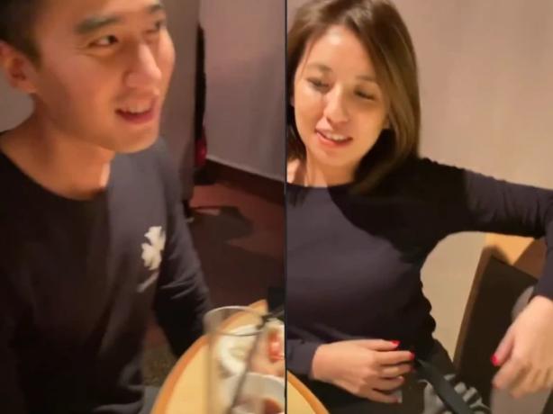 Chồng Chung Hân Đồng lộ video đi ăn với hotgirl dù luôn miệng khẳng định bận không có thời gian sinh con với vợ-3