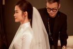 Dù đơn giản nhưng áo dài cưới của Đông Nhi mất một tháng hoàn thành