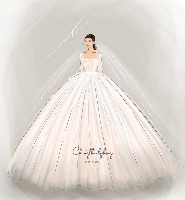 Lộ diện 2 mẫu váy cưới siêu khủng của Đông Nhi mà đến Ông Cao Thắng cũng chưa thấy tận mắt-2