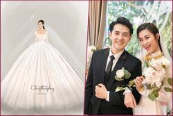 Lộ diện 2 mẫu váy cưới 'siêu khủng' của Đông Nhi mà đến Ông Cao Thắng cũng chưa thấy tận mắt