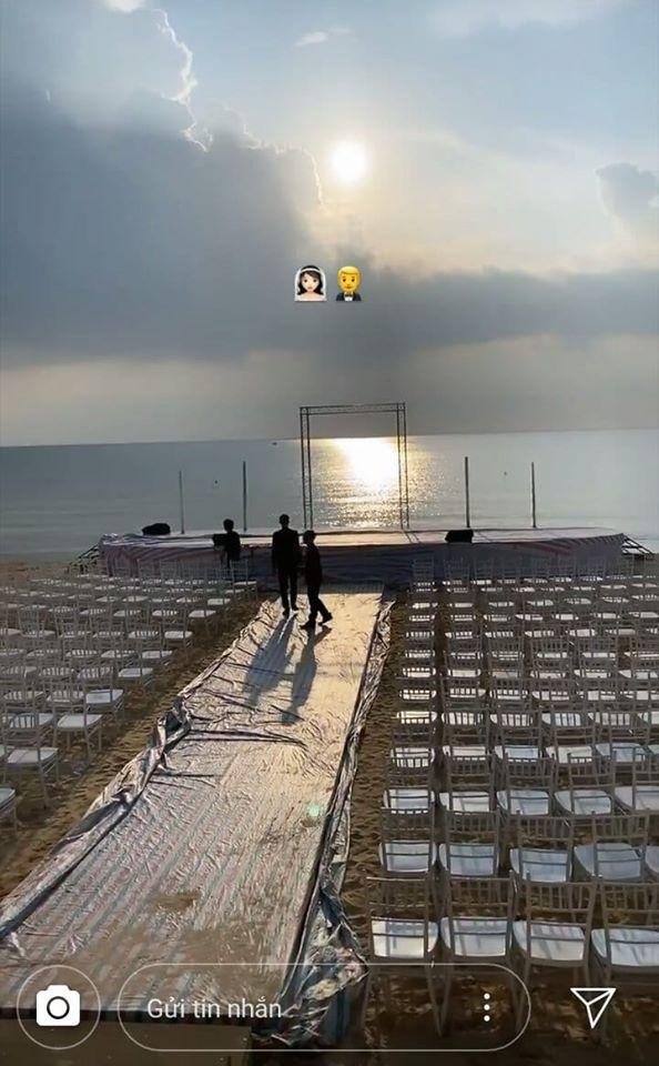 Rò rỉ không gian tiệc cưới đẹp lung linh của Đông Nhi - Ông Cao Thắng tại bãi biển Phú Quốc-2