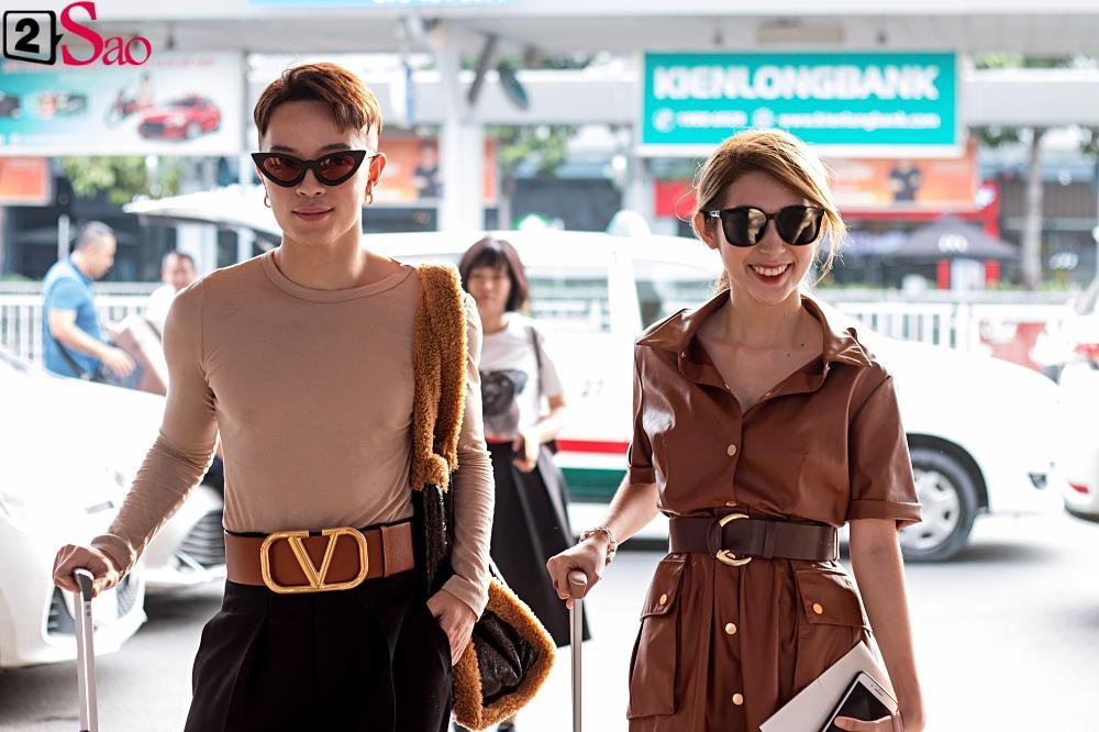 Dàn sao Việt đổ bộ sân bay đi đám cưới Đông Nhi: Diệu Nhi khoe quà, Nhã Phương lẻ bóng-13
