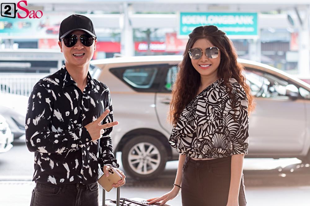 Dàn sao Việt đổ bộ sân bay đi đám cưới Đông Nhi: Diệu Nhi khoe quà, Nhã Phương lẻ bóng-16