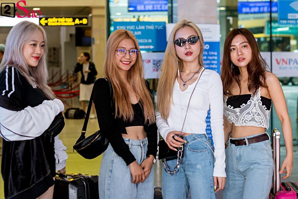 Dàn sao Việt đổ bộ sân bay đi đám cưới Đông Nhi: Diệu Nhi khoe quà, Nhã Phương lẻ bóng-17